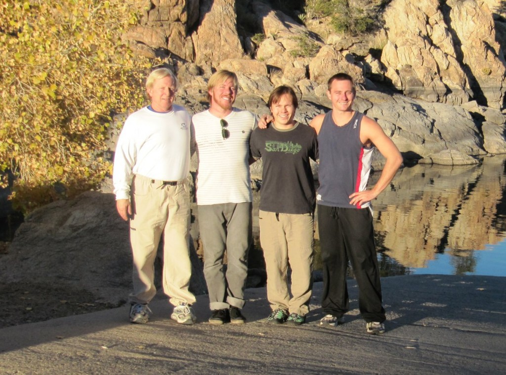 Dr. Hurt and family after rock-climbing in Prescott, Arizona